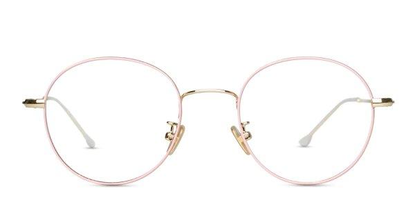 Ottoto Allium 粉色金属眼镜镜框