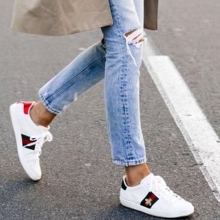 €495即可收杨幂同款Gucci 小蜜蜂小白鞋强势补码 目前码数超全