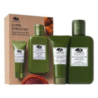 Origins Super Shrooms Mega-Mushroom Skin Relief & Resilience Duo, Main, color, NO COLOR Super Shrooms Mega-Mushroom Skin Relief & Resilience Duo