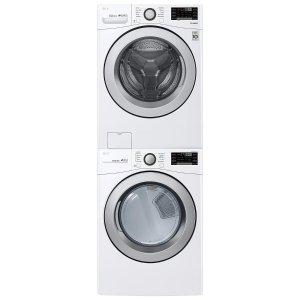 From $1049LG WM3500CW, DLE3500W / DLG3501W, KSTK1 - Stackable Large Capacity Front Load Washer and Dryer Suite