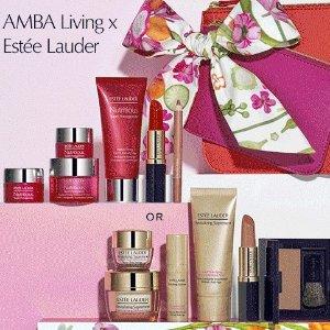 低至8折+送10件价值超$220好礼Estee Lauder 全场美妆护肤品热卖 收小棕瓶, 双银瓶套装