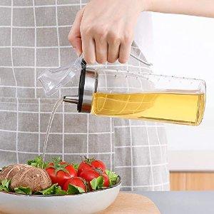 Amazon 多款大容量玻璃防漏油壶 适合华人厨房的油壶