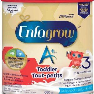 $17.55 (原价$19.98) 万千宝宝之选Enfagrow 美赞臣 A+ 3段幼儿配方奶粉680g  换新包装