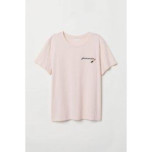 H&MT-shirt with Motif