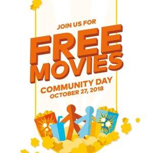 10月27日(周六) 上午9-11点Cineplex 免费看电影活动又来啦!5部电影可选