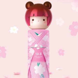 额外7.5折 + 免税独家:iMomoko精选大牌美妆 SK-II日本樱花和服娃娃$199.99