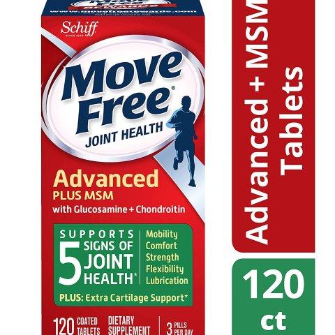 $13.29 (原价$18.47)包邮 美亚自营Move Free 维骨力促销 红色200粒大瓶仅$18