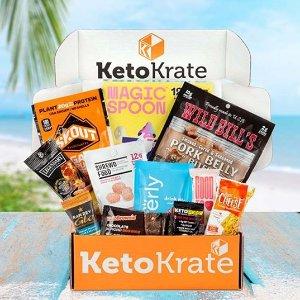 首单7.5折 $29.99收生酮礼包团购:KetoKrate 健康零食盒 生酮饮食 10多种低碳水减脂期零食