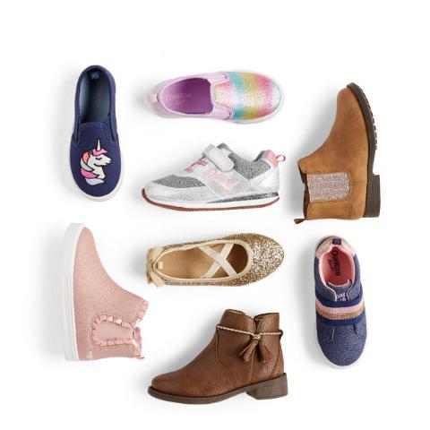 全场包邮 今年最低价 有0-14岁儿童码黑五价:OshKosh BGosh  新款童鞋新低价 低至4折+满$50享7.5折