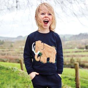 JoJo Maman BebeKids' Navy Furry Mammoth Sweatshirt