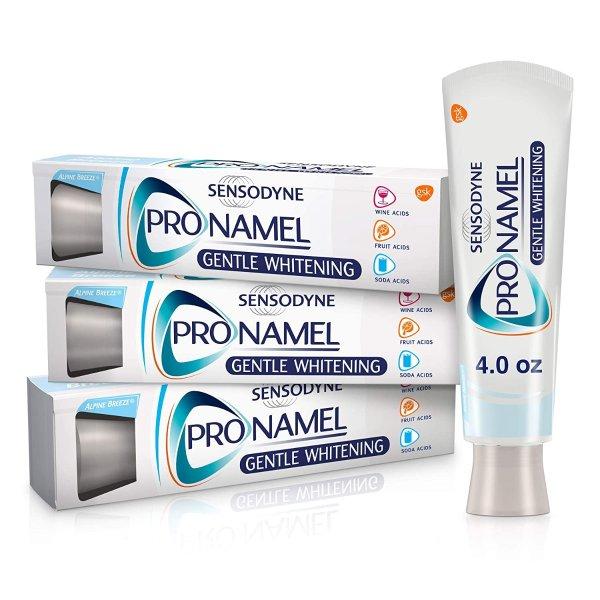 ProNamel 强化珐琅质美白牙膏 3支装