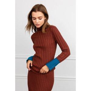 J.INGPatina Knit Brick RedTurtleneck
