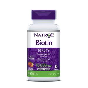 $3.71 包邮史低价:Natrol Biotin 皮肤头发指甲复合速溶片 60颗  草莓味