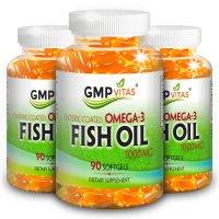 GMP Vitas 鱼油礼包- 护胃肠溶性天然鱼油 高含量1000mg X 3瓶