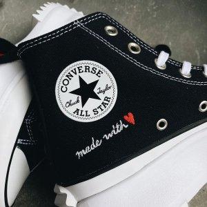 低至5折起 £19.99收基础款Converse 帆布鞋超值好价 Run Star Hike情人节系列也参与