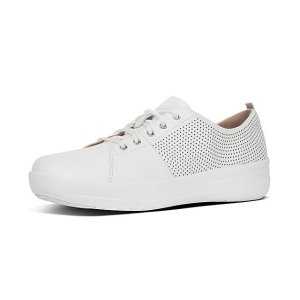FitFlopPerf Scoop-Cut Leather Sneakers