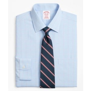 Brooks BrothersMadison Classic-Fit Dress Shirt, Non-Iron Large Overcheck - Brooks Brothers