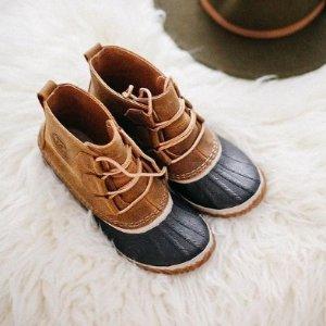 低至6折+再7.5折 儿童款$38Sorel 雪地靴特卖 防水冬靴$67 经典毛绒款$77