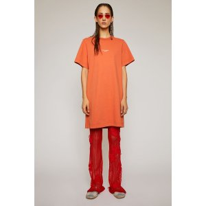 Acne StudiosReverse-logo t-shirt dress Poppy Red