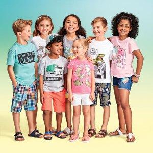 低至2折 弗朗明哥短裙$1.99The Children's Place 童装折扣区热卖 5件爬服$9 T恤$1.99