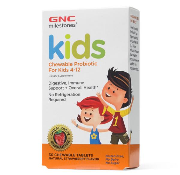 milestones™ 儿童益生菌软糖30粒,添加维C