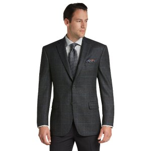 Signature Collection Traditional Fit Plaid Sportcoat CLEARANCE