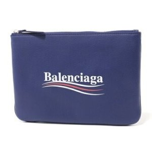 BalenciagaLadies Everyday Blue Pouch Political