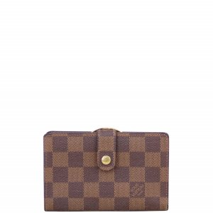 Louis Vuitton French Compact Wallet Damier Ebene