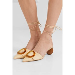 Cult Gaia圆跟绑带凉鞋