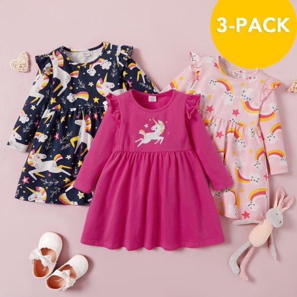 女幼童连衣裙三件套