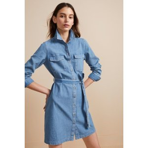 French ConnectionAvery Denim Belted Shirt Dress