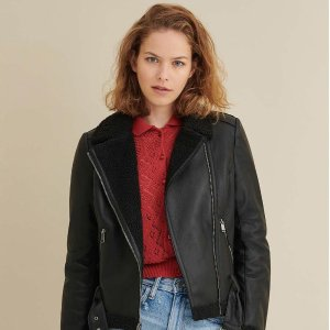额外6.5折 真皮皮衣$74起Wilsons Leather 反季大促 封面环保羊羔毛夹克$29