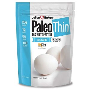 Julian Bakery Paleo Thin® Protein Egg White Powder (2 LBS Total)(Soy Free)(30 Servings Total) (GMO Free) (Unflavored)