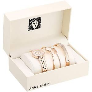 $49.99 起 (原价$150)白菜价:Anne Klein 施华洛世奇水晶腕表套装热卖 晒货相似款