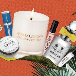 热门香水低至£2/支!潘海利根凑单小礼专区 香水礼盒、唇部护理、香氛蜡烛