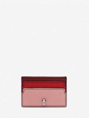 Women's Anemone/Lust Red Skull Card Holder | Alexander McQueen