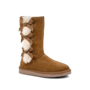 Koolaburra by UGGVictoria Tall Genuine Dyed Shearling Trim & Faux Fur Boot