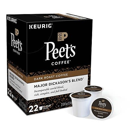 Peet's Major Dickason's K-Cup 咖啡胶囊 22颗