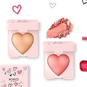 满£30立减£5!£4起 颜值超高,粉嫩可爱Kiko官网 情人节系列上线,给你我的小心心~