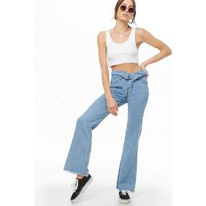低至15折+额外8折!设计感牛仔裤