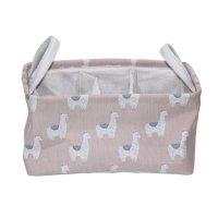 MAINSTAYS 粉色羊驼图案布艺收纳盒