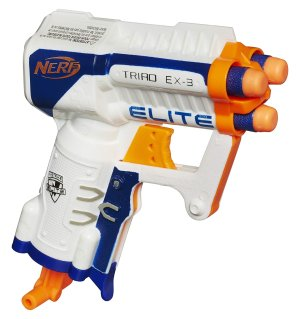 Roll over image to zoom in NERF N-Strike Elite Triad EX-3 Toy, Multicolor