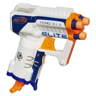 $3.99 (原价$9.99)NERF N-Strike Elite Triad EX-3 软弹枪玩具