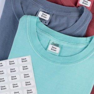 8折+免运费  每个6美分独家:Label Land 个性化定制衣服标签,180个
