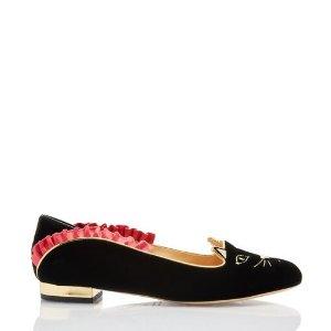 Charlotte Olympia猫咪平底鞋