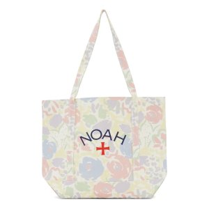 NOAHWhite Recycled Canvas Floral印花帆布包