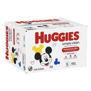 现价$18.5(原价$24.98)Huggies 无香型 宝宝湿纸巾 1152张