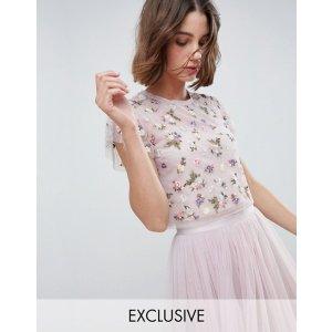 67af72644152e4 ... Strap Midi Dress with Open Back at asos.com · NEEDLE & THREADPrism  Embellished Floral Crop Top at asos.com