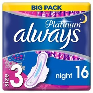 always2件£5,4件£8Platinum Night夜用 (Size3) 16片装