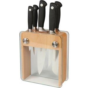 $144.9(原价$349.7) 通风不生细菌Mercer Culinary 专业厨房刀具6件套 精钢锻造 抗菌防锈